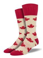 "Outlands - Men's ""Canadian Maple"" Socks Comfortable Funny Cute Unique Socks"