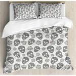Multi Skulls Pattern Printed Bedding Set Bedroom Decor