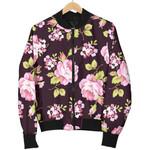 Vintage Pink Rose Floral Pattern 3D Printed Unisex Jacket