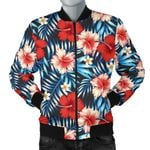 Red Hibiscus Blue Scene 3D Printed Unisex Jacket