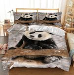 Panda And Dry Tree Branch Printed Bedding Set Bedroom Decor