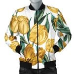 Yellow Tulip Pattern 3D Printed Unisex Jacket