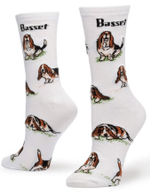 Women's Basset Hound Socks - One Size Comfortable Funny Cute Unique Socks