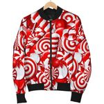 Candy Cane Christmas Pattern 3D Printed Unisex Jacket