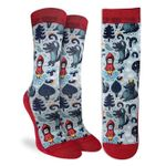 Little Red Riding Hood Meeting With A Wolf Printed Crew Socks