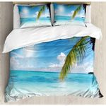 Summer And Palm Tree Printed Bedding Set Bedroom Decor