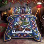 Animal Christmas Printed Bedding Set Bedroom Decor