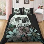 Skull And Daisy Flower Bedding Set Bedroom Decor