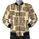 Tiki Brown Symbol Vintage 3D Printed Unisex Jacket