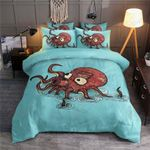 Octopus Blue Printed Bedding Set Bedroom Decor