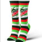 Women's Mtn Dew Stripes Socks Comfortable Funny Cute Unique Socks
