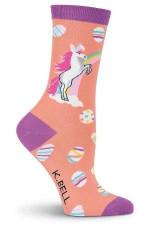 Easter Unicorn Women's Crew Socks Funny Cute Unique Socks