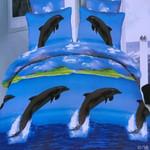 Dolphin Fresh Water Printed Bedding Set Bedroom Decor