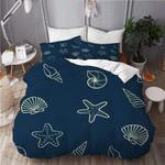 Seashell Pattern Sea World Printed Bedding Set Bedroom Decor