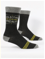 Selective Hearing Specialist Men's Crew Socks Comfortable Funny Cute Unique Socks