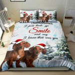 Dachshund Christmas Snow 3D Bedding Set Bedroom Decor