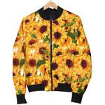 Watercolor Sunflower Pattern 3D Printed Unisex Jacket