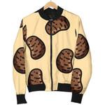 Pattern Brown Potato 3D Printed Unisex Jacket