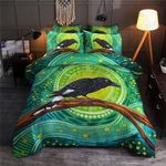 Abstract Crows Green Pattern Bedding Set Bedroom Decor