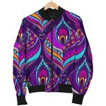 Bohemian Purple Pattern 3D Printed Unisex Jacket
