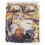 Eagle And Owl Printed Bedding Set Bedroom Decor