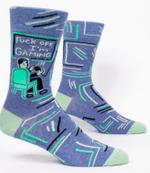 Blue Q Mens - Fuck Off Gaming Socks Gift Ideas Funny Unique Socks