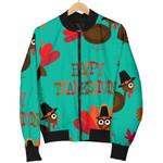 Pattern Turkey Happy Thankgiving 3D Printed Unisex Jacket