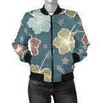 Green Hibiscus Pattern 3D Printed Unisex Jacket