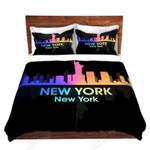 City V New York Light 3D Bedding Set Bedroom Decor