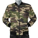 Dark Green Camouflage Pattern 3D Printed Unisex Jacket