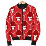 Amazing Gift Gorilla Red Pattern 3D Printed Unisex Jacket