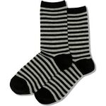 Women's Denim Stripes on Grey Socks Comfortable Funny Cute Unique Socks