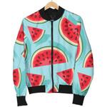 Blue Watermelon Pieces Pattern  3D Printed Unisex Jacket