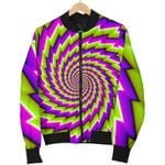 Green Twisted Moving Optical Illusion  3D Printed Unisex Jacket