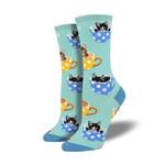 Cat-Feinated Comfortable Cute Funny Unique Unisex Socks