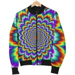 Psychedelic Expansion Optical Illusion 3D Printed Unisex Jacket