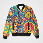 Colorful Vintage Abstract 3D Printed Unisex Jacket