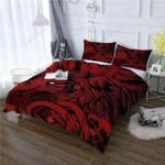 Lion Black And Red Bedding Set Bedroom Decor