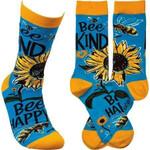 """""""Bee Kind"""" Socks Lovely Birthday Gift For Men Women Comfortable Unique Socks"""