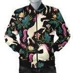 Unicorns Forest Background 3D Printed Unisex Jacket