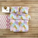 Yellow Unicorns Watercolor 3D Bedding Set Bedroom Decor