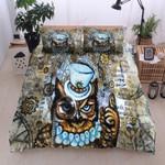 Erudite Owl Vintage Pattern Printed Bedding Set Bedroom Decor