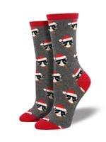 "Women's ""Santa Cats"" Socks Comfortable Funny Cute Unique Socks"