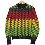 Knitted Style Reggae Pattern 3D Printed Unisex Jacket