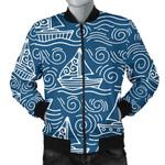Hand Drawn Sailboat Pattern 3D Printed Unisex Jacket