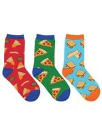 """Kid's """"A Little Cheesy"""" 3-Pack Socks Lovely Birthday Gift Comfortable Unique Socks"""