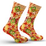 Pizza Food Printed Crew Socks