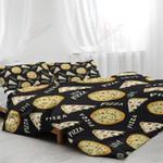 Pizza Slices Black Bedding Set Bedroom Decor
