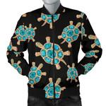 Sea Turtle Blue Stone Pattern 3D Printed Unisex Jacket