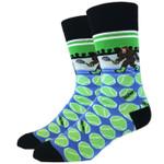 Tennis Bigfoot Men's Crew Socks Funny Cute Unique Socks